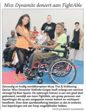 Miss Dynamite doneert aan Fight Able